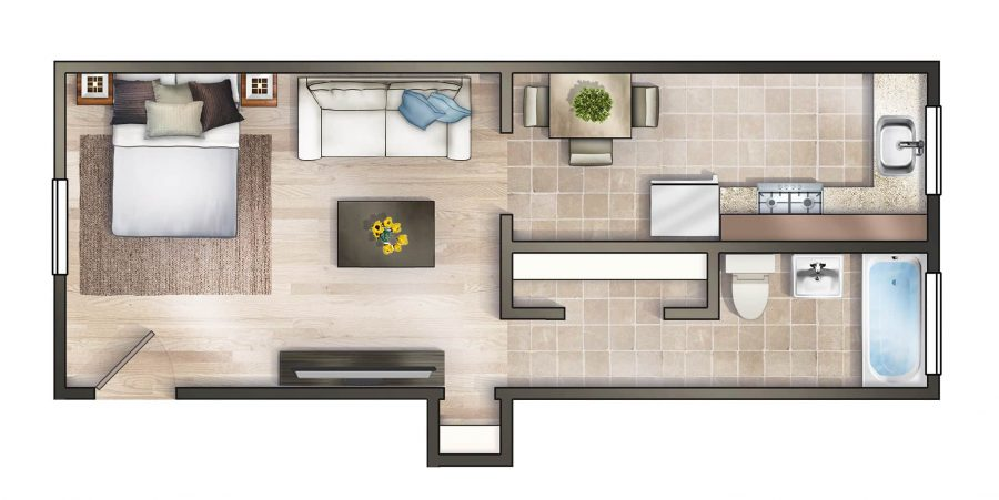 Worthington Woods Studio Floor Plan